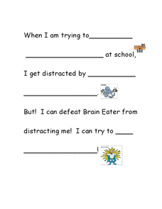 Distractions 2 Worksheet
