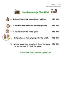 Interesting Sportsmanship Worksheets About Ms Sepp S Counselor ...