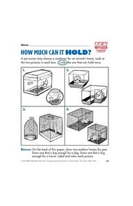 How Much Can It Hold? Lesson Plan
