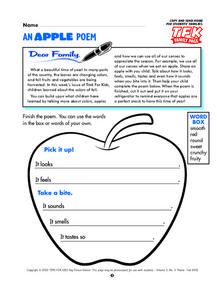 An Apple Poem Lesson Plan