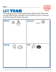Last Year: Reflective Writing Lesson Plan