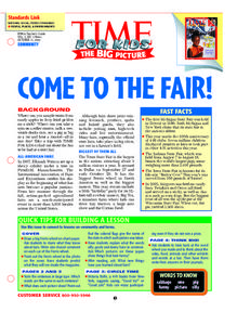 Time For Kids: Come To the Fair! Lesson Plan