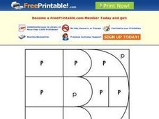 Letter P Mystery Picture Worksheet