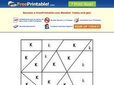 Letter K Mystery Picture Worksheet