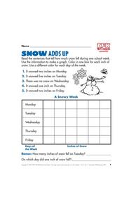 Snow Adds Up Lesson Plan