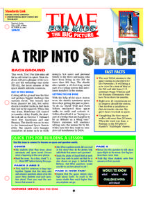 A Trip Into Space Lesson Plan