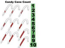 Candy Cane Count Worksheet