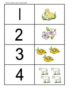 Counting Animals Worksheet