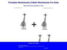 Giraffe Math Worksheet