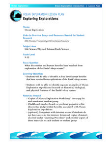 Exploring Explorations-Ocean Exploration Lesson Plan