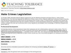 Hate Crimes Legislation Lesson Plan