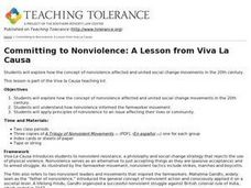Committing to Nonviolence: A Lesson from Viva La Causa Lesson Plan