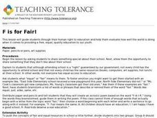 F is for Fair! Lesson Plan