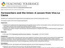 Farmworkers and the Union: A Lesson from Viva La Causa Lesson Plan