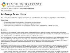 In-Group Favoritism Lesson Plan