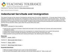 Indentured Servitude and Immigration Lesson Plan