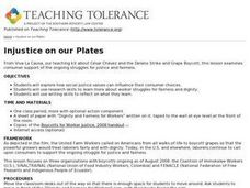 Injustice on our Plates Lesson Plan