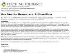One Survivor Remembers: Anti-Semitism Lesson Plan