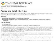Romeo and Juliet Mix-It-Up Lesson Plan