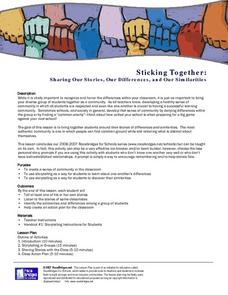 Sticking Together:    Sharing Our Stories, Our Differences, and Our Similarities Lesson Plan