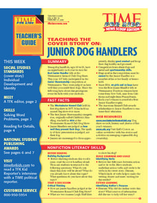 Junior Dog Handlers Lesson Plan