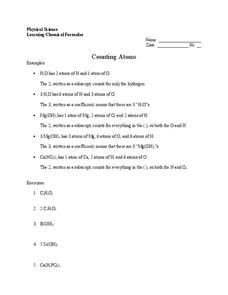 Counting Atoms Worksheet