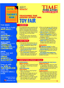 Time For Kids: Toy Fair Lesson Plan
