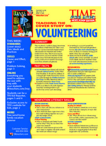 Time For Kids: Volunteering Lesson Plan