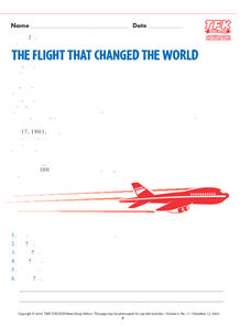 """The Flight That Changed the World"" Lesson Plan"