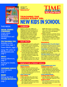 New Kids in School Lesson Plan