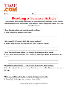 Reading a Science Article Lesson Plan