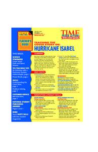 Hurricane Isabel Lesson Plan
