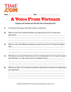 Time For Kids: A Voice From Vietnam Lesson Plan