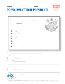 Do You Want to Be President? Lesson Plan