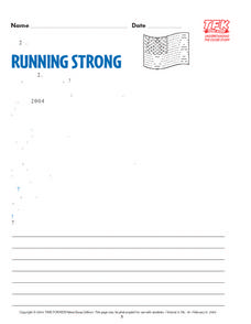 Running Strong Lesson Plan