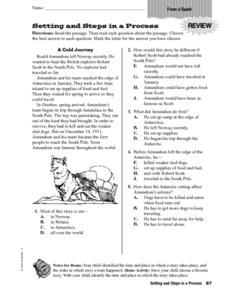 Setting and Steps In A Process Worksheet