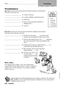 The Trail Drive Vocabulary Worksheet