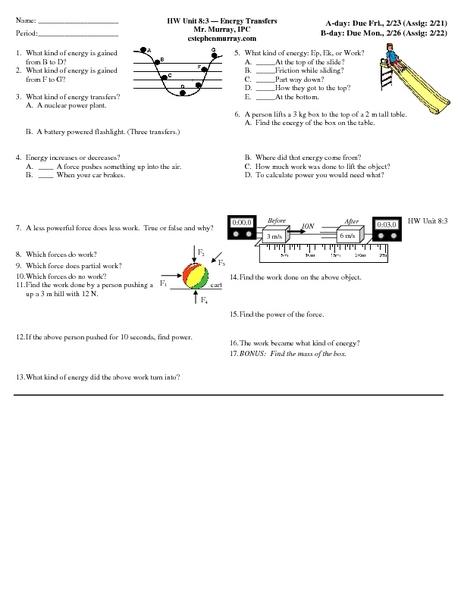 Mechanics Lesson Plans Worksheets Lesson Planet