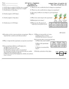 Experiments Worksheet