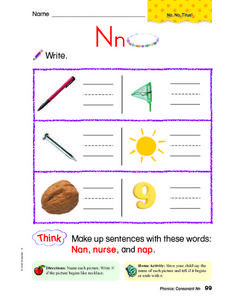 Letter N: Write Worksheet