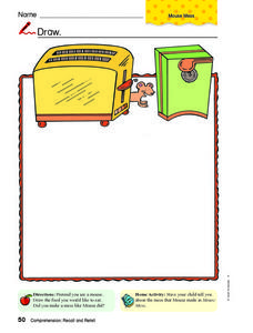 Draw: Mouse Worksheet