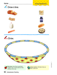Draw a Line: Foods Worksheet
