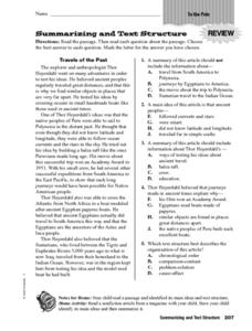 summarizing and text structure worksheet for 4th 6th grade lesson planet. Black Bedroom Furniture Sets. Home Design Ideas