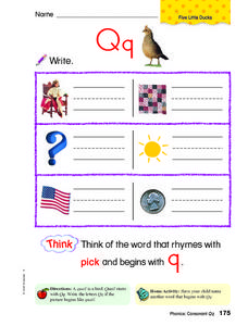 Letter Qq Review Worksheet