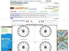 Write the time (Analog clock - Easter) Worksheet