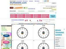 Draw Hands On The Clock to Show The Time (Analog Clocks - Easter) Worksheet
