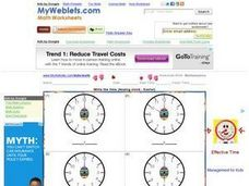 Write the Time: Easter 2 Worksheet