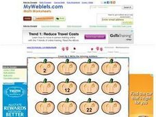 Halloween Count by 2, #2 Worksheet