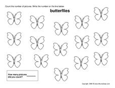Counting Butterflies Worksheet