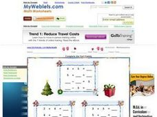 Complete the Fact Family: Christmas Worksheet